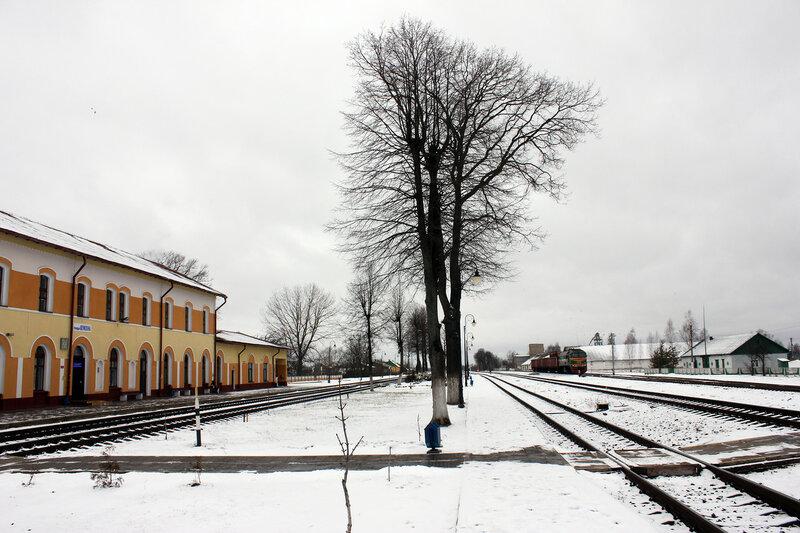 Станция Шумилино, вид на Полоцк