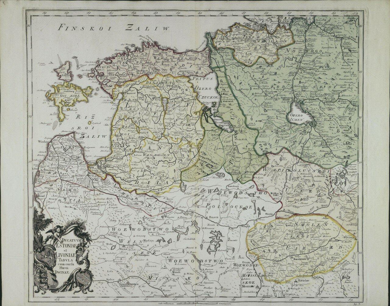 1745. Эстония и Ливония с рекой Двиной