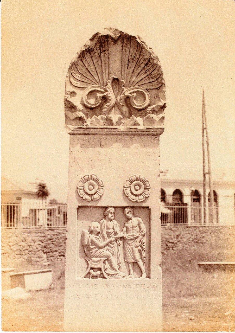 63. Афины. Кладбище Керамик. Стела Эбиоса из патмоса