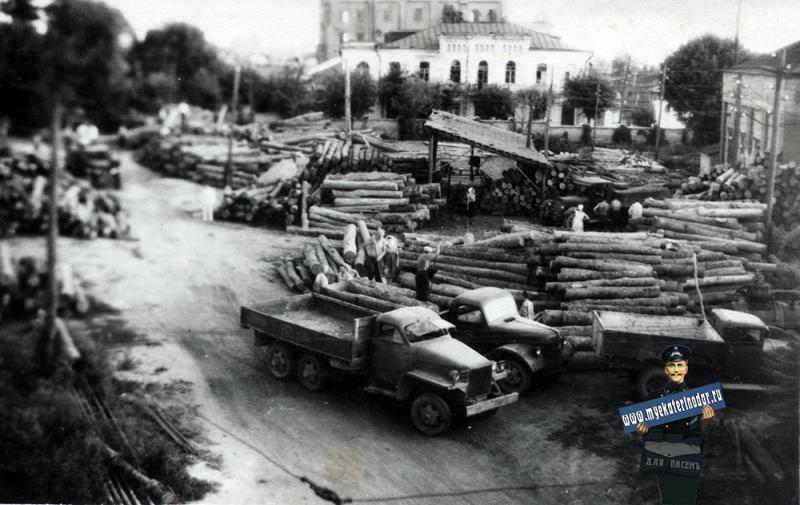 Краснодар. Заготовка шпал, 1948 год.jpg