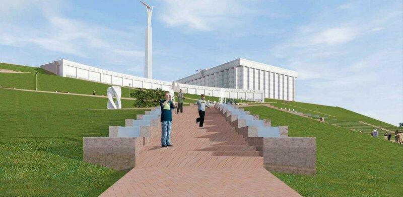 Эскизное предложение по благоустройству волжского склона площади Славы в г.Самара