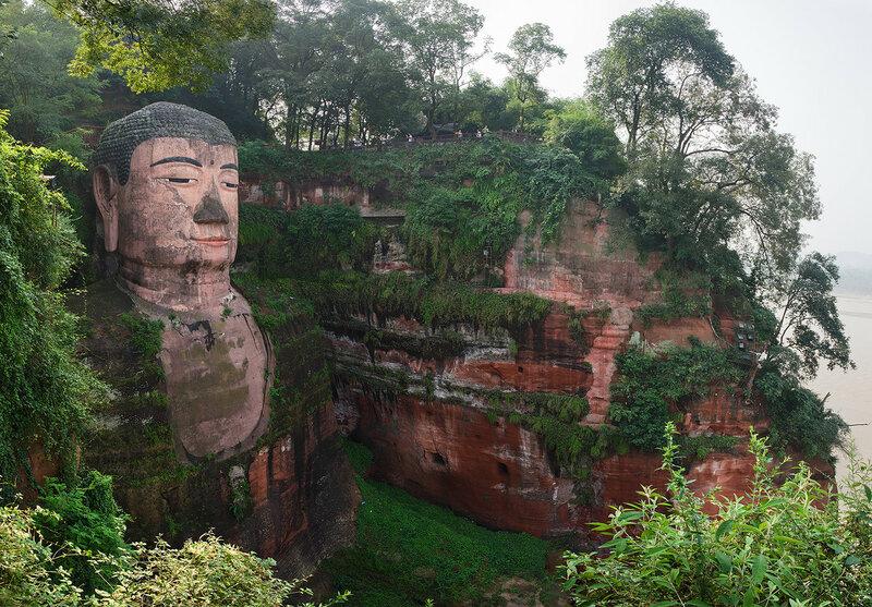 Статуя будды Майтрейи, фрагмент