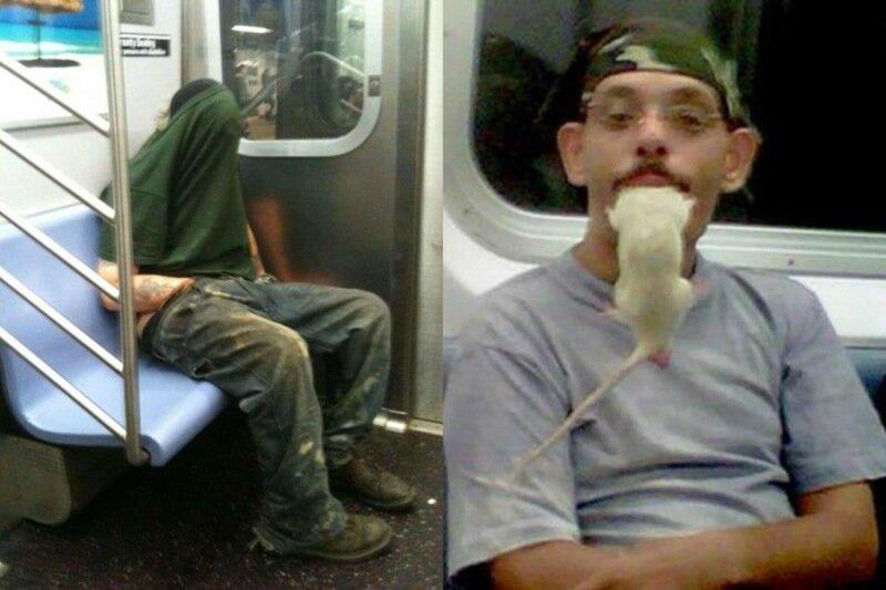 Самые странные люди в общественном транспорте США