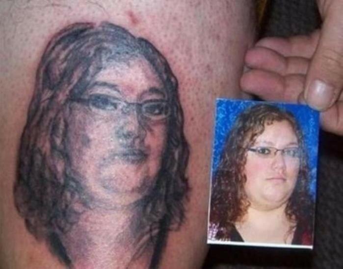 По настоящему плохие и неудачные татуировки (фото)