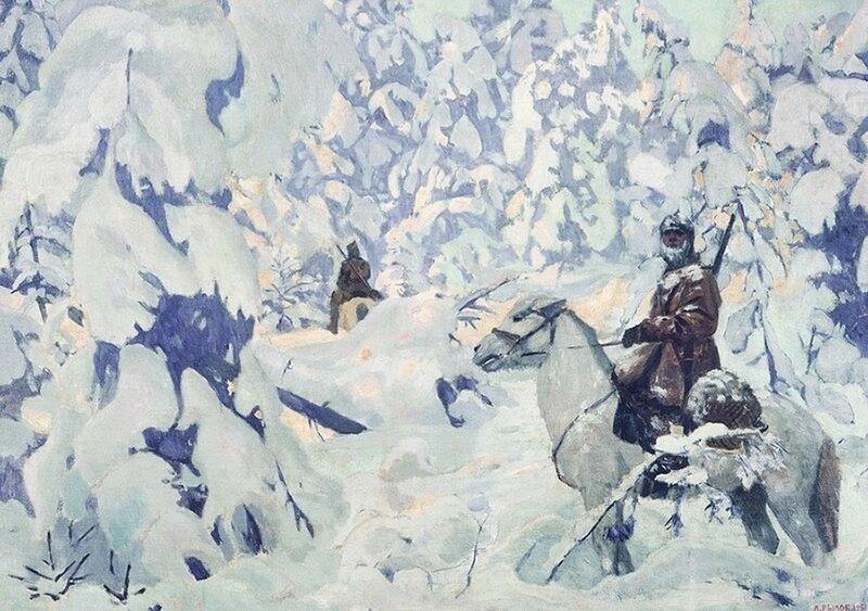 Рылов Аркадий Александрович (Россия, 1870-1939) «На страже» 1931