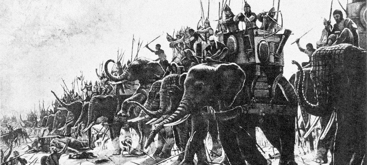 В 217-м году до н. э. египетский фараон Птолемей IV объявил войну правителю Антиоху III. В июле того