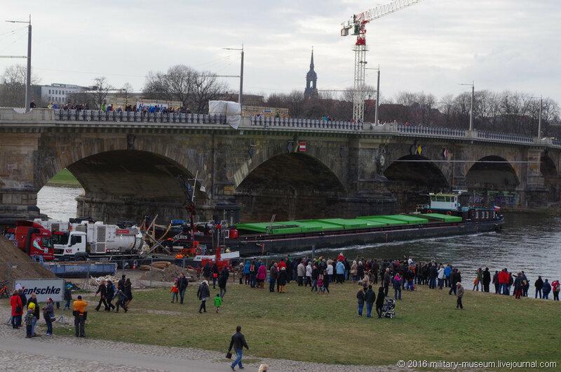 Авария чешского сухогруза ALBIS в Дрездене