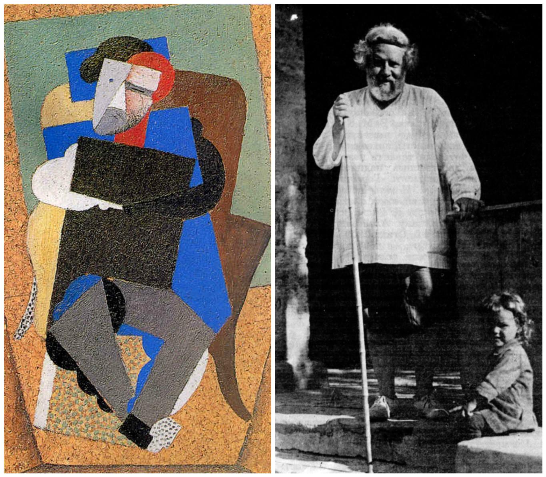 3. Диего Ривера (1886–1957) Портрет Волошина. Париж, 1916 г. и фотография Волошина 1929 г.