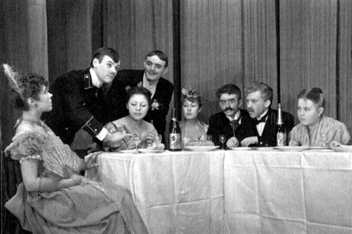 1960. Спектакль школы-студии МХАТ «Свадьба»