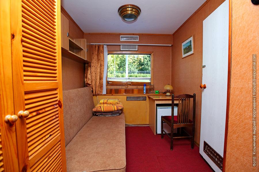 одноместная каюта первого класса №4 со всеми удобствами теплоход Бородино