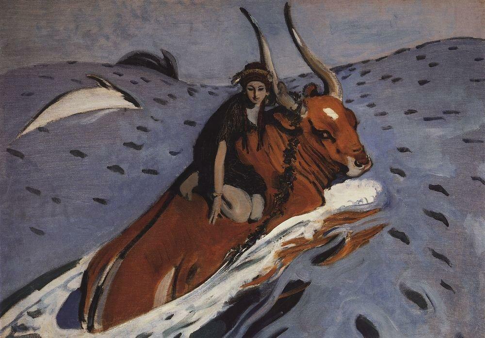 Похищение Европы, 1910, Серов, Валентин, (1865-1911)