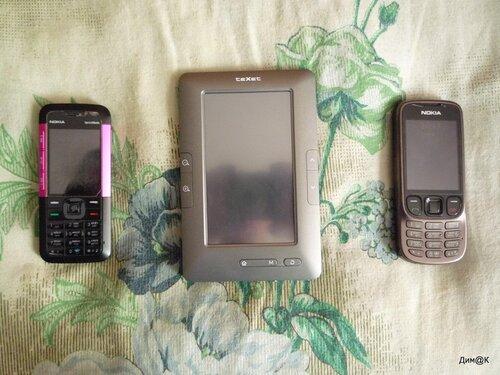 Texet ТВ-434HD (с телефонами Nokia 5310 и 6303i)
