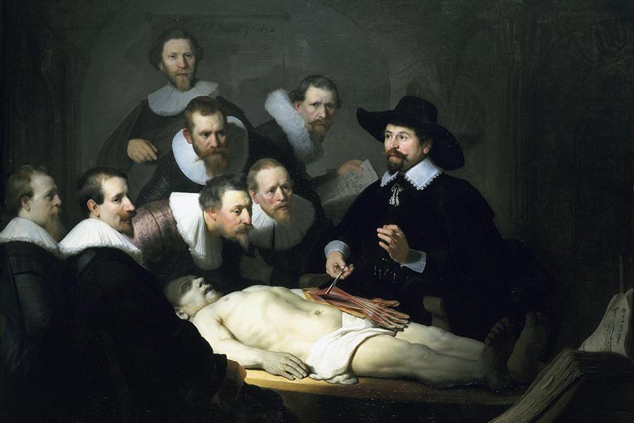 """Что не так на картине Рембрандта ван Рейна """"Урок анатомии доктора Тульпа""""? Амстердам, 1632"""