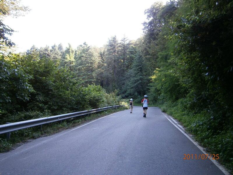 Дорога на гору Ахун