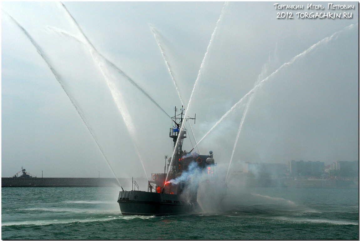 Navy russia firefighting boat pzhk 58