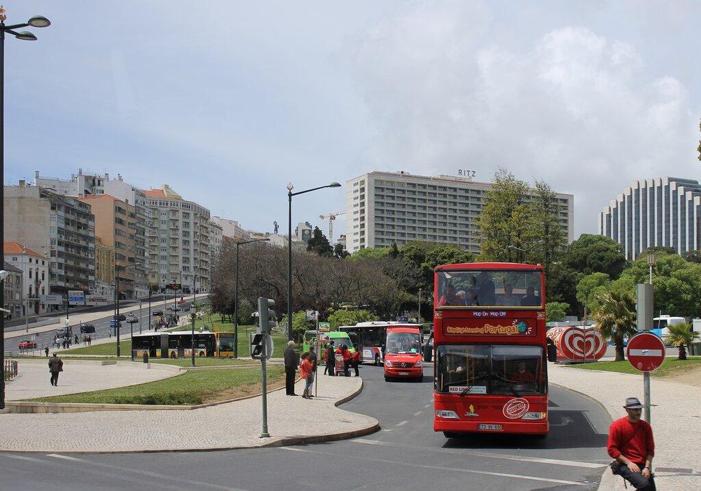Лиссабон. Площадь Маркиза де Помбала (Praça Marquês de Pombal)