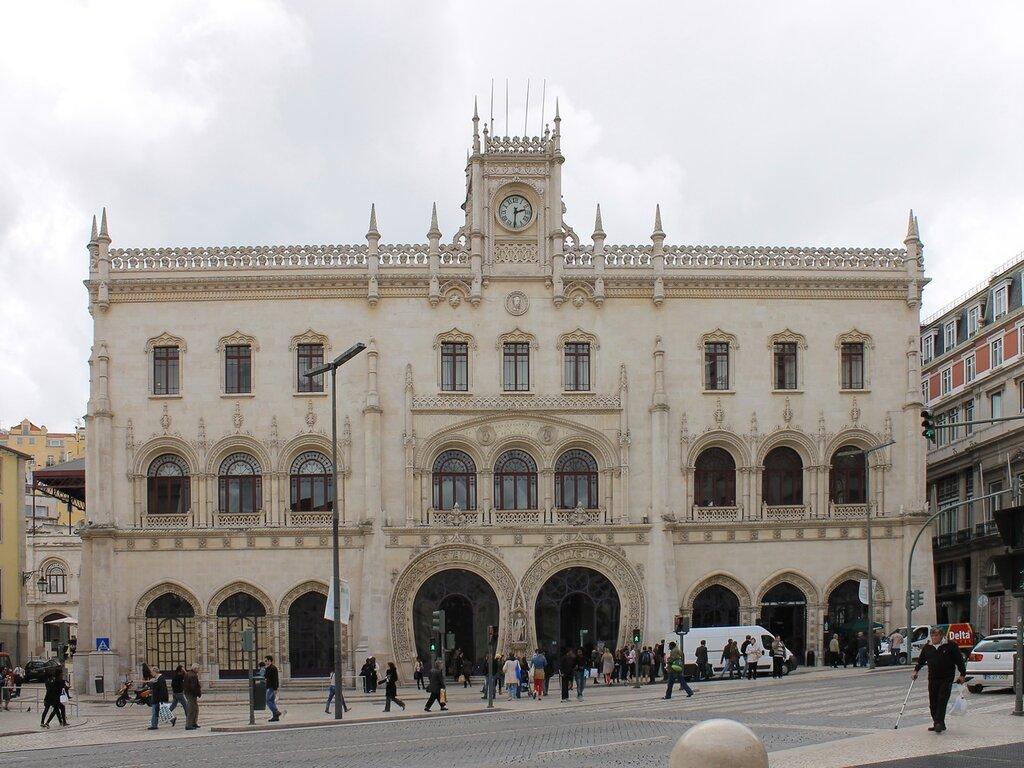 Лиссабон. Вокзал Россиу. Estação de Caminhos de Ferro do Rossio, Lisboa