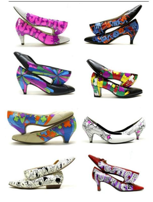 Обувь в стиле граффити