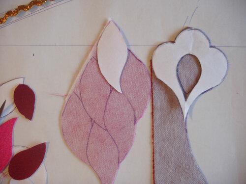 Нанесение рисунка аппликации на ткань