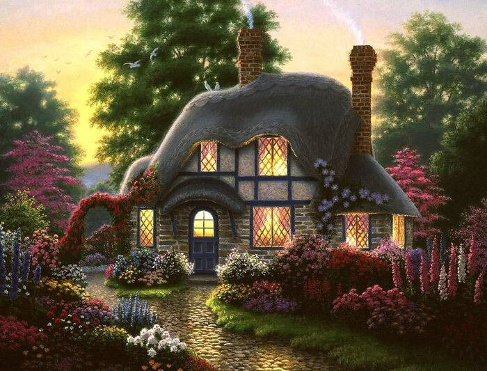 """Предпросмотр - Схема вышивки  """"Дом в саду """" - Схемы автора  """"palena29 """" - Вышивка крестом."""
