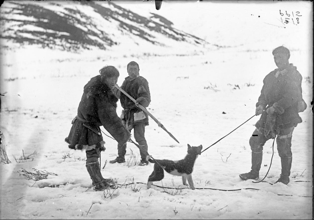 Коряки приносят в жертву собаку
