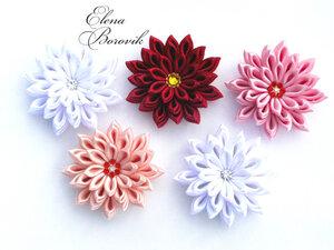 Прекрасные цветы канзаши 0_9bc79_fcbdad94_M