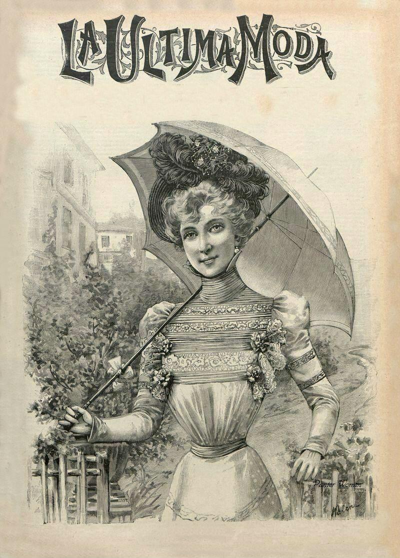 La Ultima moda   Листая старый журнал мод...1898 -2, винтажные дамы