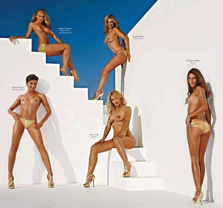 Участницы Олимпиады, немецкие спортсменки в журнале Playboy Germany, август 2012