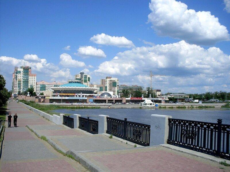На мосту через р.Миасс