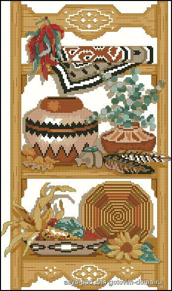 """предпросмотр. таблица цветов.  Размеры: 112 x 190 крестов. схема. tugova.  0. Картинки.  Автор схемы  """"Для кухни """" ."""