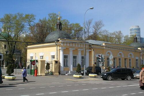 Храм Андрея Первозванного на Ваганьковском кладбище.