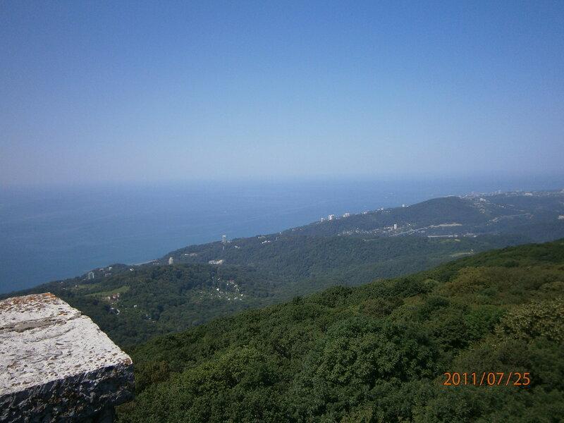 Панорама Сочи с высоты птичьего полёта