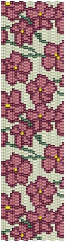 Как плести из бисера мозаику - Делаем фенечки своими руками.