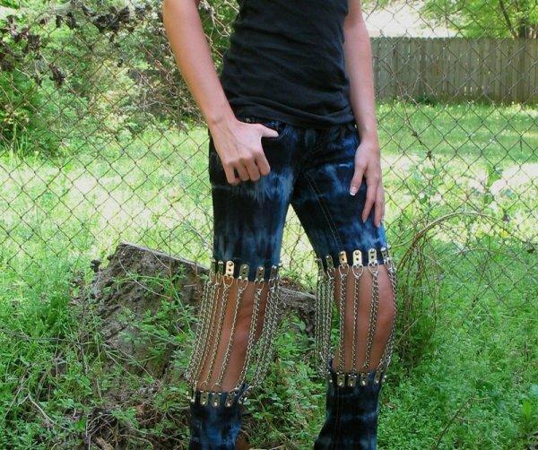 Как зашивать рваную коленку на джинсах