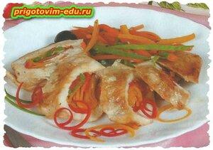 Курица по-испански с фетой.рецепт
