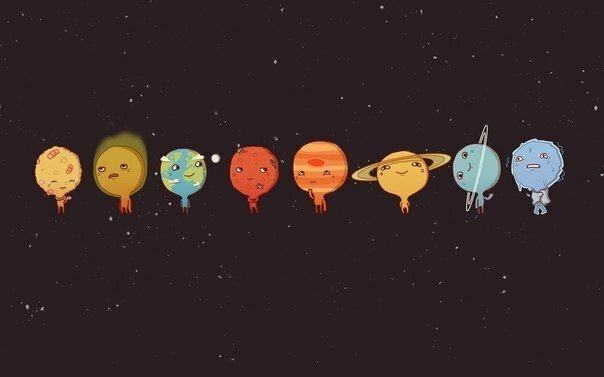 "Схема вышивки  ""Парад планет "": схема."
