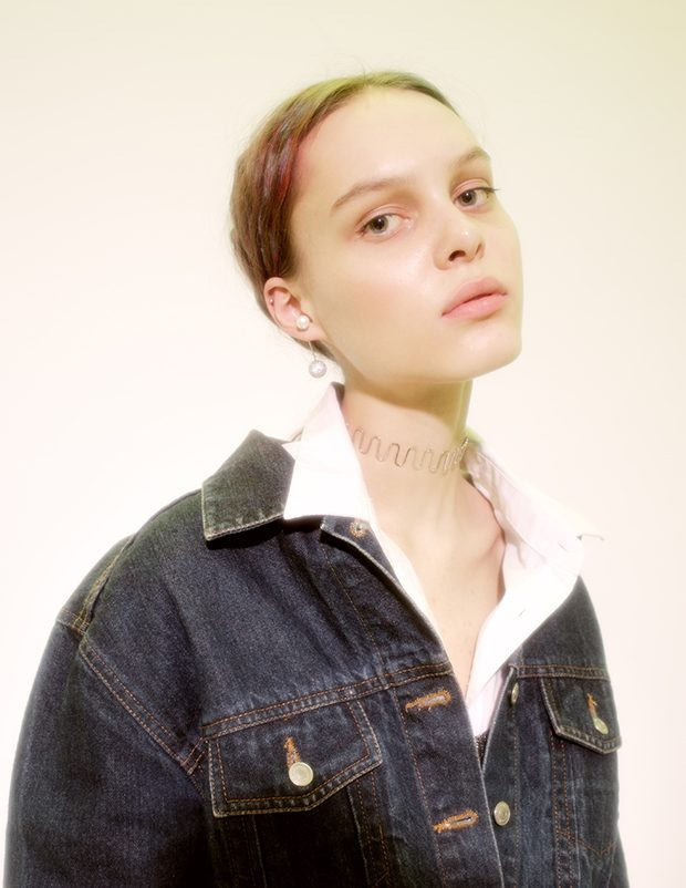 Denim jacket Vintage Shirt Alexander Wang Jewerely MARIA STERN