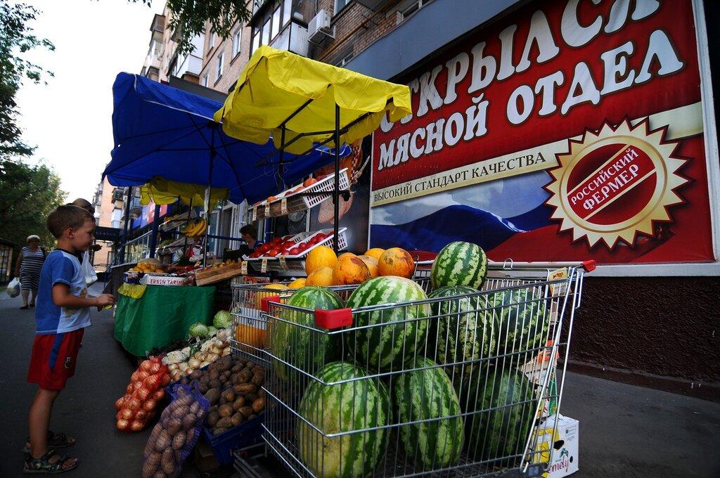 Как продают арбузы на улицах Москвы