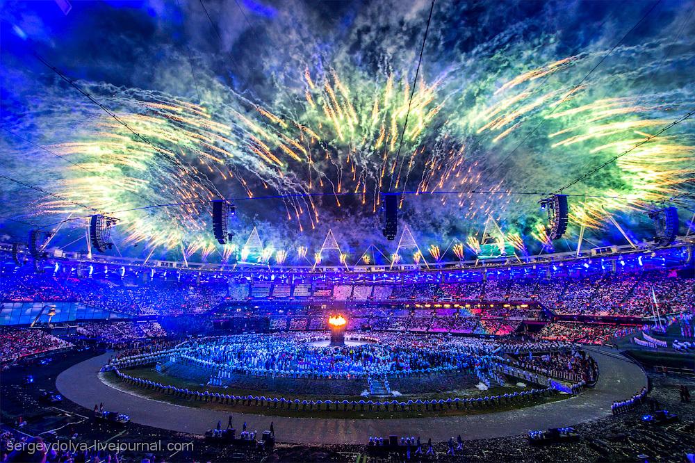 Открытие Олимпиады 2012. Фейерверки