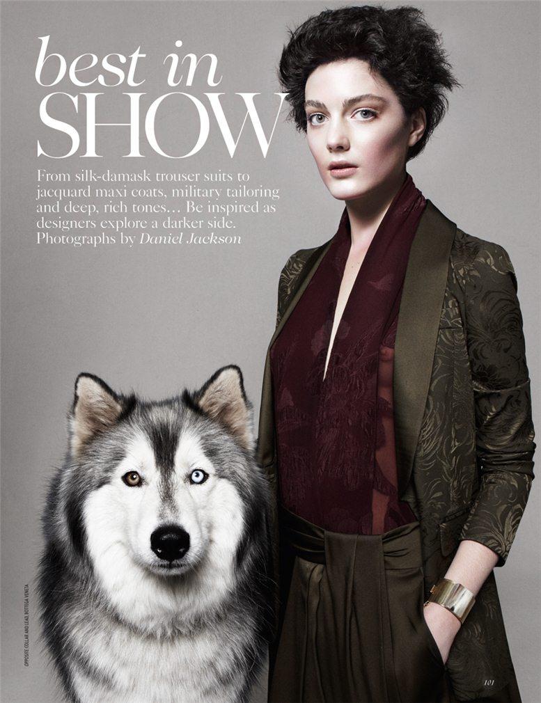 Best In Show - Katryn Kruger / Кэтрин Крюгер, фотограф Daniel Jackson в журнале Vogue UK, август 2012