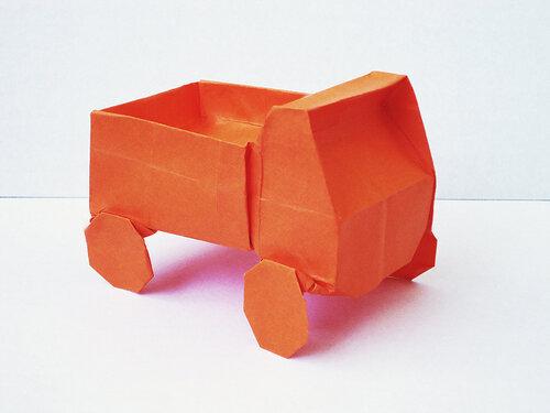 Грузовик. Бумага для оригами