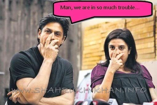 SHAHRUKH KHAN and FARAH KHAN - real life talking smart