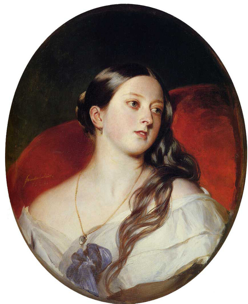 Queen Victoria, 1843, by Franz Xavier Winterhalter (1805-1873