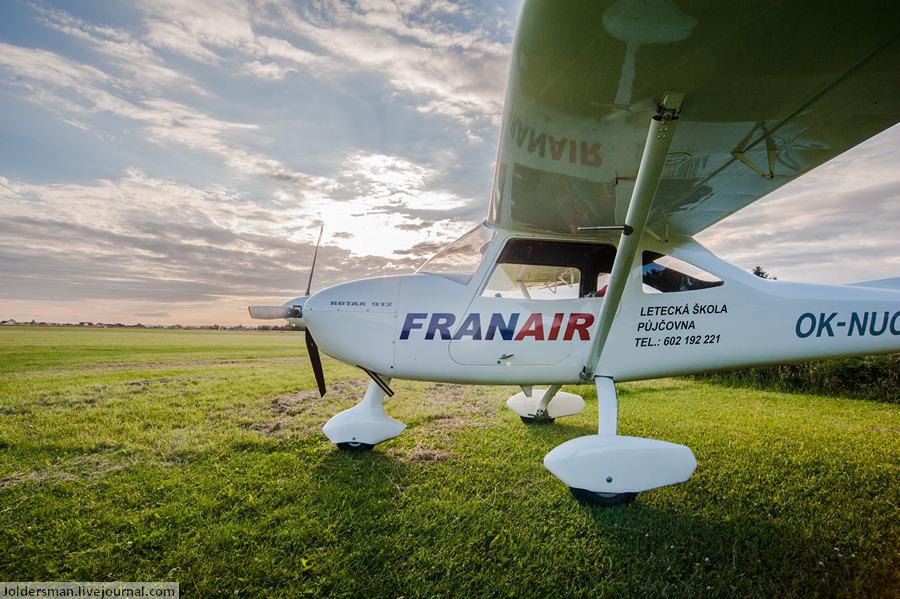 одномоторный самолет в Чехии