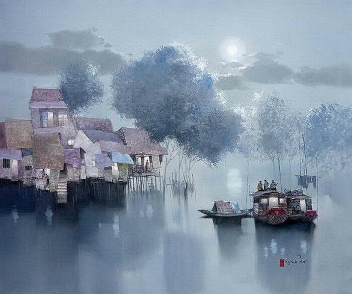 Вдоль реки Меконг задумалась Луна. Данг Кан (Dang Can)