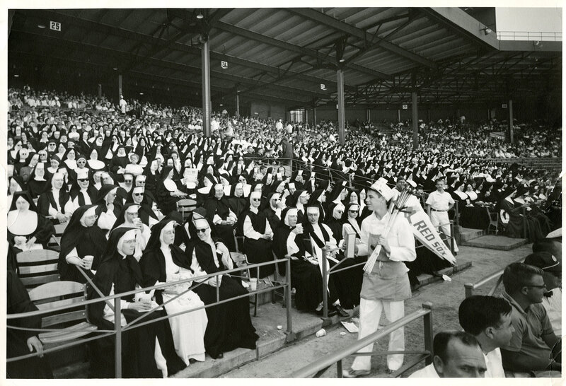 Courtesy photo. Nun Day at Fenway Park 1966. 4/9/12