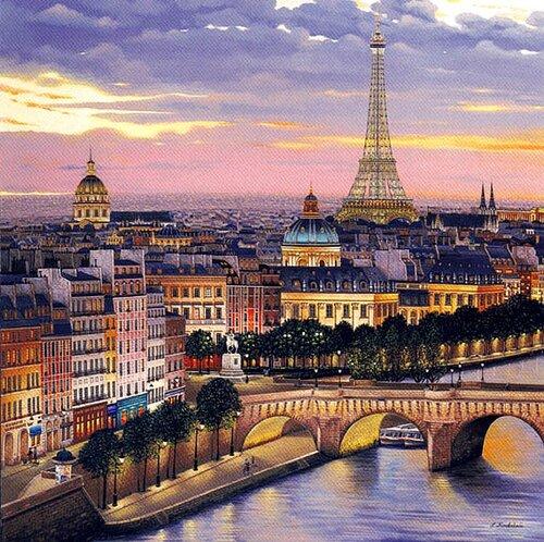 Париж картинки для декупажа