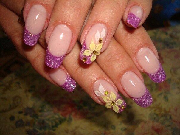 Новые дизайны нарощенных ногтей.