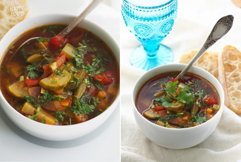 Летний суп-рагу в сковороде-вок(готовлюв посуде iCook TM)