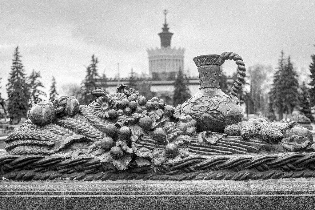 "Москва. ВДНХ, фрагмент фонтана ""Каменный цветок"""
